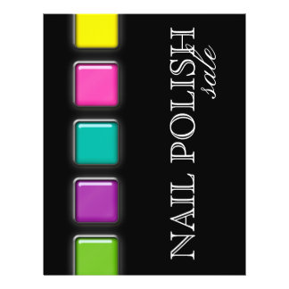 Nail Salon Flyer Colorful Beauty Palette