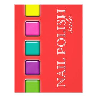 Nail Salon Flyer Colorful Beauty Palette Orange