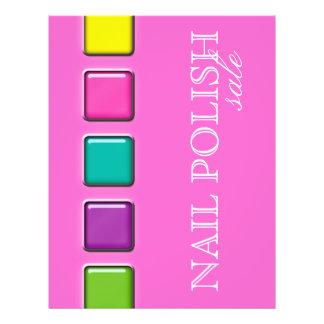 Nail Salon Flyer Colorful Beauty Palette Pink