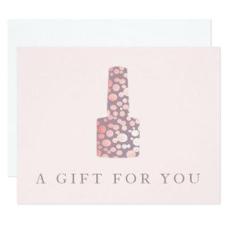 Nail Salon, Mauve Pink Manicurist Gift Certificate Card