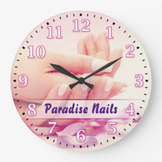 Nail Salon Personalizable Wall Clock