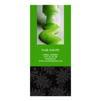 Nail Salon Services Price List {Lime Green} Custom Rack Cards