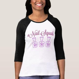 Nail Squad Raglan tee shirt