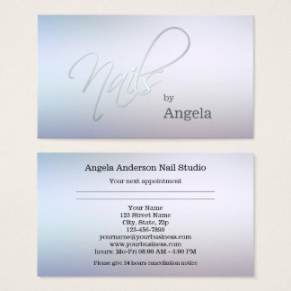 Nail Studio Appointment Business Card