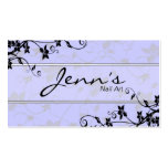 Nail Technician Business Card - Floral Vines