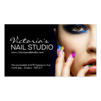 Nail Technician Business Card Template