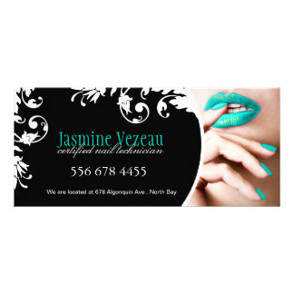 NAIL TECHNICIAN GIFT CERTIFICATE CUSTOMIZED RACK CARD