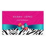 Nail Technician - Trendy Pink Zebra Print Pack Of Standard Business Cards