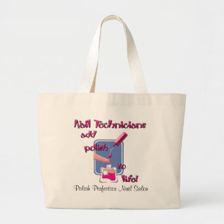 Nail Technicians Large Tote Bag
