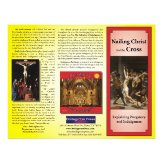 Nailing Christ to the Cross - Teaching Indulgences 21.5 Cm X 28 Cm Flyer