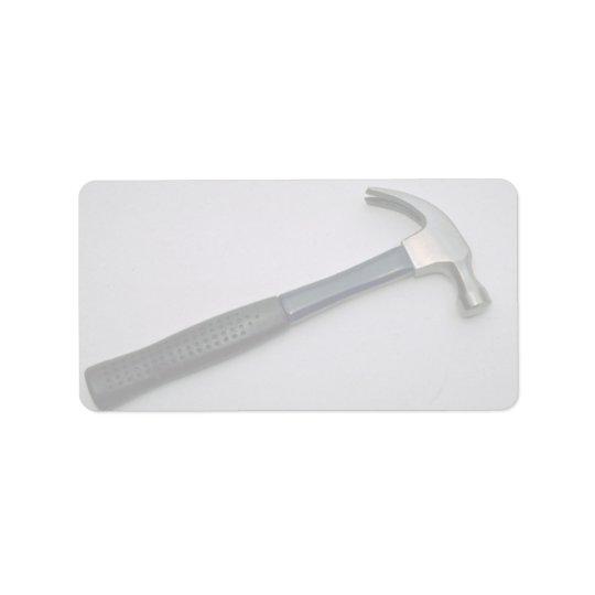 Nailing hammer label