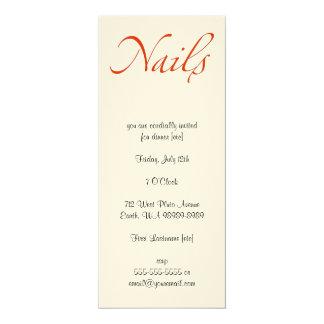 Nails 10 Cm X 24 Cm Invitation Card