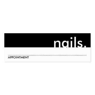 nails. (appointment card) business cards