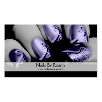 Nails By Reann (Purple Nails) Pack Of Standard Business Cards
