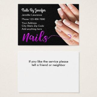 Nails Manicure Stylish Business Card