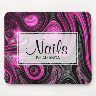 Nails Nail Artist Pedicure NailArt Purple Black Mouse Pad