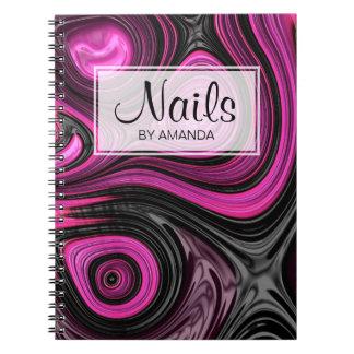 Nails Nail Artist Pedicure NailArt Purple Black Notebook