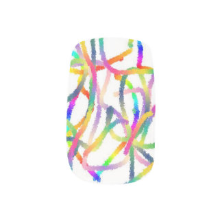 Nails with rainbow colors minx nail art