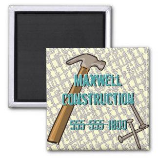 nailsstationery, nail, nail2, nail3, hammer2, M... Square Magnet