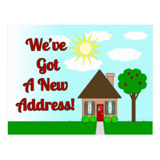 Naive Art House New Home Postcard