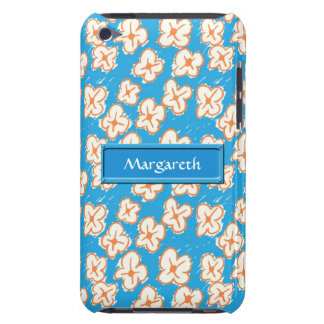Naive daisies on blue barely there iPod case