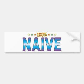 Naive Star Tag v2 Bumper Sticker