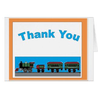 Naive Train Thank you Card