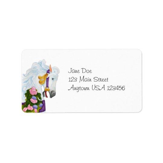 Najira Carousel Horse Avery Label Address Label