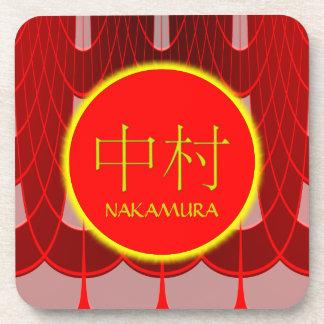 Nakamura Monogram Fire & Ice Beverage Coaster