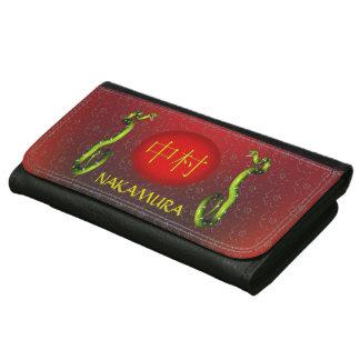 Nakamura Monogram Snake Leather Wallet