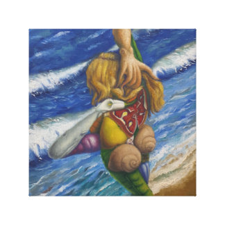 """naked in front of the sea "" canvas print"