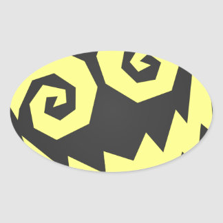 NALGames Insane In The Face Black + Yellow Oval Sticker