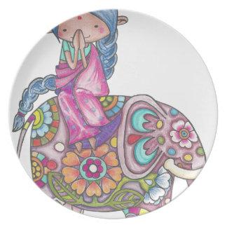 Nalini the small Hindu woman Plate