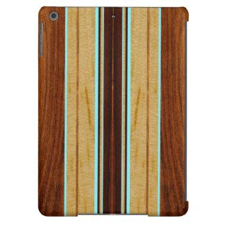 Nalu Hou Faux Koa Wood Surfboard iPad Air Cases