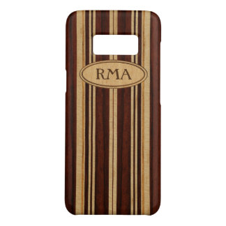 Nalu Lua Faux Koa Wood Monogram Surfboard Case-Mate Samsung Galaxy S8 Case
