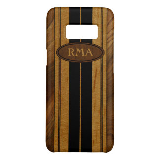 Nalu Mua Faux Koa Wood Monogram Surfboard Case-Mate Samsung Galaxy S8 Case