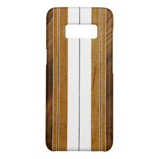 Nalu Mua Faux Koa Wood Surfboard - White Case-Mate Samsung Galaxy S8 Case