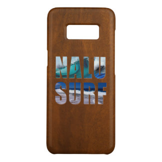 Nalu-Surf Hawaiian Wave Faux Koa Wood Surfboard Case-Mate Samsung Galaxy S8 Case