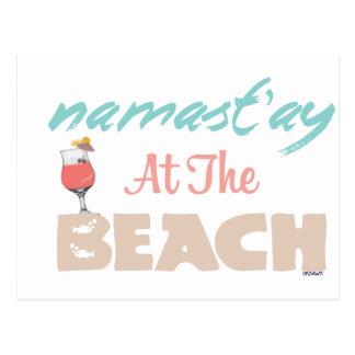 Namast'ay at the Beach Postcard