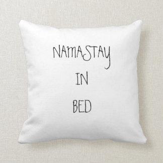 """Namastay Cotton Throw Pillow, 16"""" x 16"""" Cushion"""