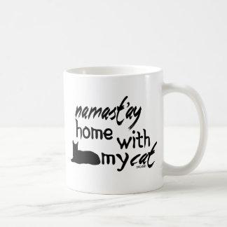 Namast'ay Home with My Cat Coffee Mug