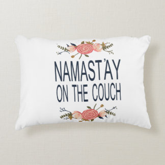 Namastay on the Couch Accent Pillow