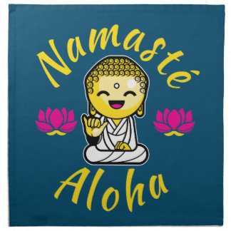 Namaste Aloha hand sign Buddha Humour Napkins