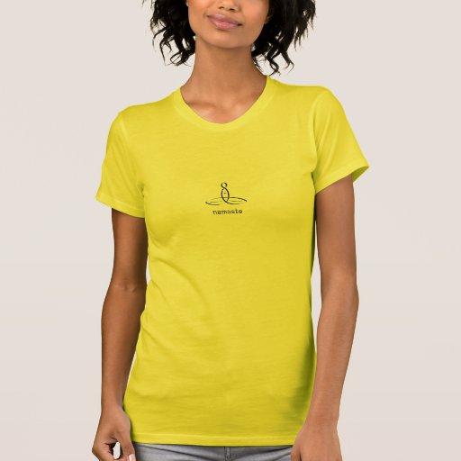 Namaste - Black Fancy style Tee Shirt