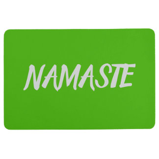 NAMASTE Bright Green Yoga Floor Mat