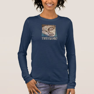 Namaste Buddha Art Long Sleeve T-Shirt
