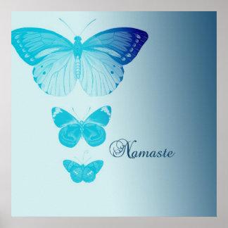 Namaste Butterflies Poster