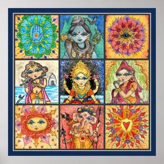 Namaste Collage Poster