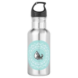 Namaste Corgi Blue Merle Emblem Water Bottle 532 Ml Water Bottle