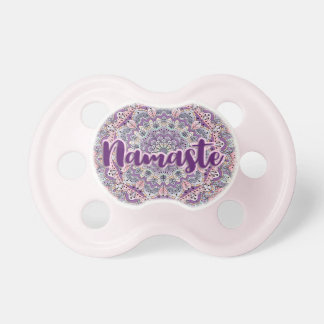 Namaste Cute pink and purple floral mandala Dummy